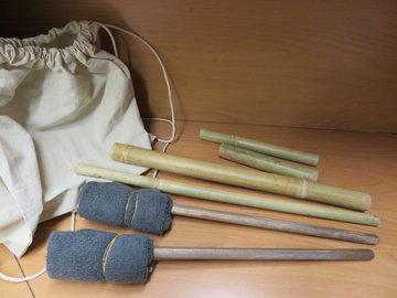 Bamboe massage stokken set