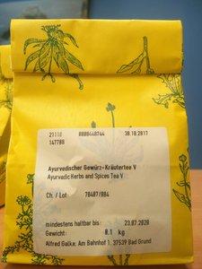 Ayuverdische thee Vatta  100g